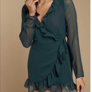 *NEVER BEEN WORN* Emerald Wrap Dress